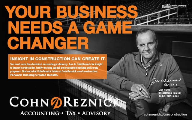 Baseball Manager Joe Torre and CohnReznick LLP Team Up on